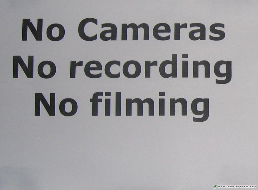 no camera no recording no filming avatar