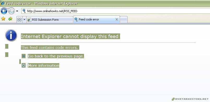 rss error rss_error